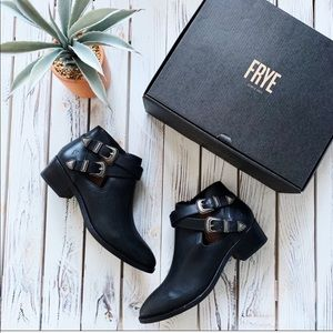 "Frye ""Ray"" Western Shootie Ankle Boots"